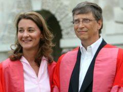 Bill Gates with his wife Melinda Gates (Chris Radburn/PA)