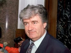 Radovan Karadzic will serve the rest of his sentence for war crimes in a British jail (Stephens/PA)