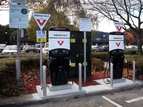 Around 200 chargers will be placed at Costa sites