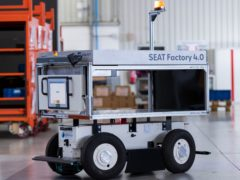 The robots can carry heavy loads and tow, too