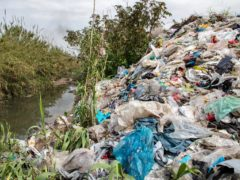 The Greenpeace team found plastic packaging from UK, German and global food and drinks brands and supermarkets (Caner Ozkan/Greenpeace/PA)