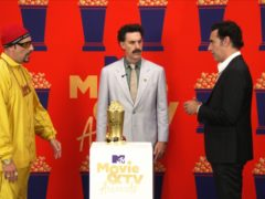 Sacha Baron Cohen revived some of his best known creations while accepting the comedic genius award (MTV/PA)