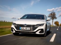 The large front grille of the Arteon is hard to miss