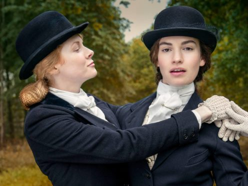 Emily Beecham as Fanny and Lily James as Linda (Theodora Films Limited & Moonage Pictures Limited/Robert Viglasky/PA)