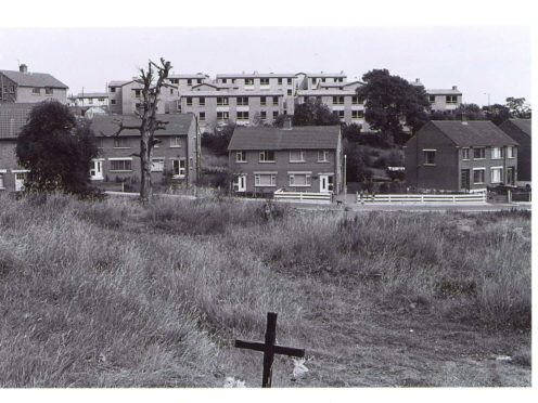 An area of Ballymurphy where parish priest Father Hugh Mullan and teenager Frank Quinn were fatally wounded (Ballymurphy families/PA)