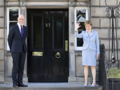 First Minister Nicola Sturgeon confirmed John Swinney as Scotland's Covid Recovery Secretary. (Jane Barlow/PA)