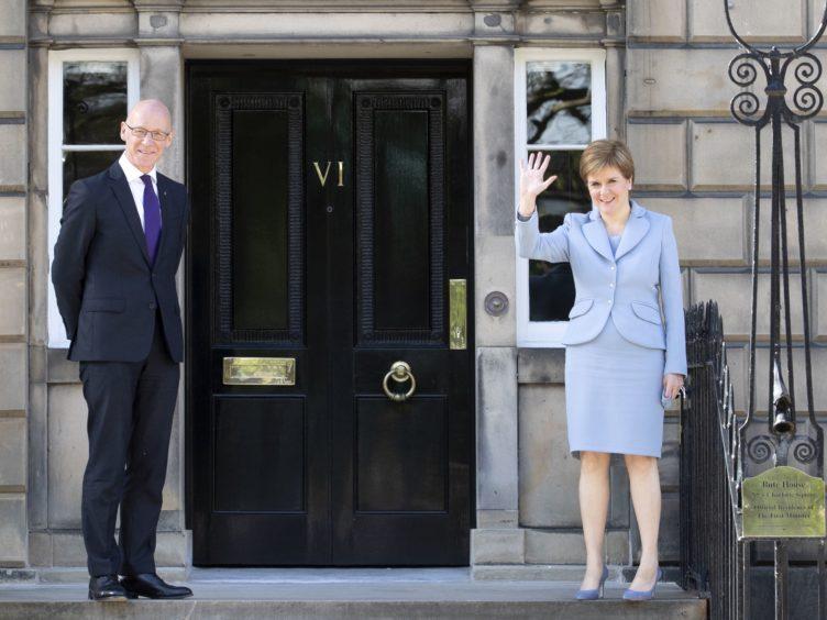 First Minister Nicola Sturgeon confirmed John Swinney as Scotland's Covid Recovery Secretary. (Jane Barlow/PA)