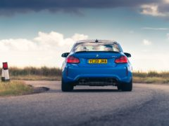 A quad exhaust system gives the M2 plenty of character
