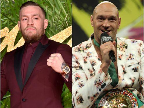 Conor McGregor and Tyson Fury feature in Tuesday's social (Matt Crossick/Bradley Collyer/PA)