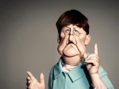 German chancellor Angela Merkel by Spitting Image (Mark Harrison/PA)
