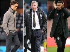 Scott Parker, Sam Allardyce and Paul Heckingbottom, l-r, saw their teams relegated meekly (Catherine Ivill/Richard Sellers/Nigel French/PA)