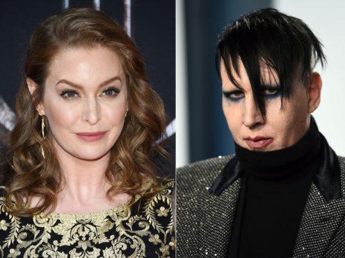 Esme Bianco and Marilyn Manson (Evan Agostini/Invision/AP)