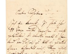 First page of Franz Schubert's letter (Sotheby's/PA)