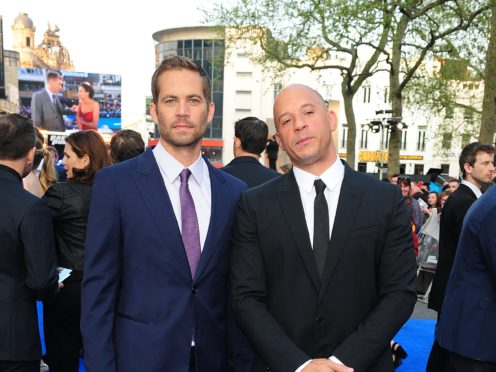 Vin Diesel said his friendship with Paul Walker is what he treasures most from his time working on the Fast & Furious franchise (Ian West/PA)