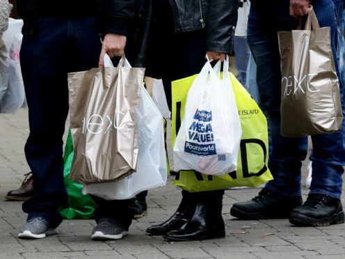 Shop prices fell by 0.6% year-on-year in May, figures show (PA)