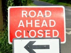 The A941 road was closed for an investigation to take place (Ian West/PA)