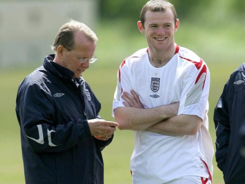 Wayne Rooney, pictured with England team doctor Leif Sward, travelled to the 2006 World Cup in Germany, despite injury problems (Martin Rickett/PA)