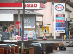 Forensic officers at the Esso petrol station in Romford following the incident in April 2018 (Isabel Infantes/PA)