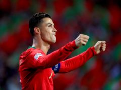 Portugal skipper Cristiano Ronaldo will become the first man to play at five European Championships (Mike Egerton/PA)