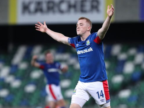 Shayne Lavery has signed a two-year deal at Blackpool following a prolific spell with Linfield (Niall Carson/PA)