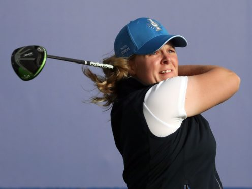 Sweden's Caroline Hedwall held a one-shot lead at the halfway stage of the Scandinavian Mixed (Jane Barlow/PA)