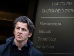 Joey Barton leaves Barnsley Magistrates' Court (Danny Lawson/PA)