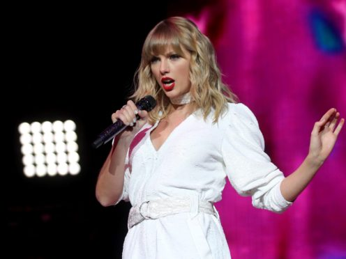 Taylor Swift was honoured with the global icon prize at the Brit Awards last month (Isabel Infantes/PA)