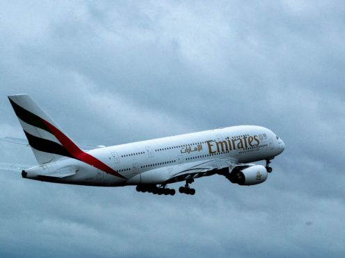 An Emirates Airbus A380-861 (PA)