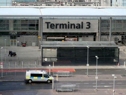 Terminal 3 at Heathrow Airport (Steve Parsons/PA)