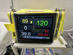 A machine simulating vital signs of a deteriorating patient (Ben Birchall/PA)