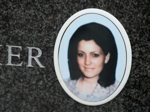 The headstone of Jean Smyth in Milltown cemetery in Belfast (Brian Lawless/PA)