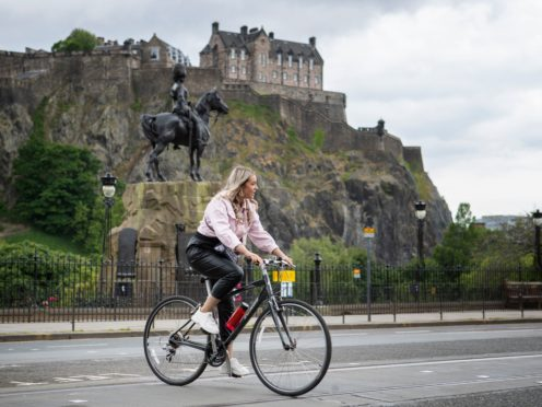 Edinburgh is considering cycling projects beyond the pandemic (Jane Barlow/PA)