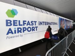Travellers arriving at Belfast International Airport (Liam McBurney/PA)