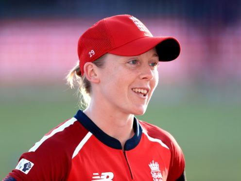 Heather Knight is disappointed England will not play on a fresh wicket (Mike Egerton/PA)