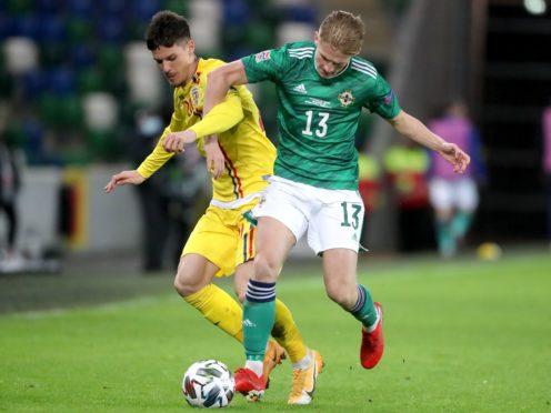 Ali McCann said Northern Ireland were unlucky to lose to Ukraine (Niall Carson/PA)