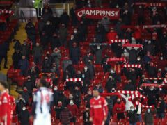 Liverpool are to undertake a 12-month trial of rail seating at Anfield (Nick Potts/PA)
