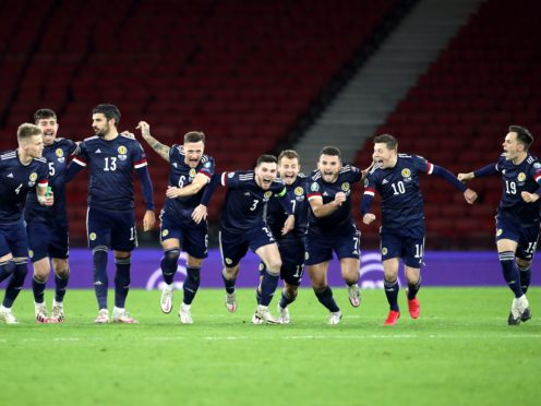 Scotland will play in a major tournament for the first time since the 1998 World Cup (Andrew Milligan/PA).