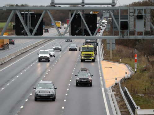 Smart motorways, which have no hard shoulder, have been the subject of controversy since they were introduced in 2006 (Martin Rickett/PA)