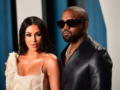 Kim Kardashian and Kanye West (Ian West/PA)