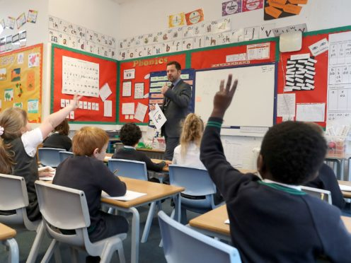 The Department for Education has announced an additional £1.4bn for its Covid catch-up programme (Martin Rickett/PA)