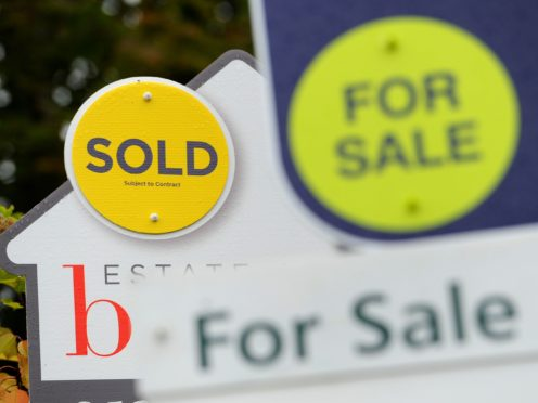 Rightmove said house sellers' asking prices have hit a record high for the third month in a row (PA)