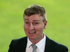 Stephen Kenny finally tasted victory as Republic of Ireland manager at the 12th attempt (Trenka Atilla/PA)