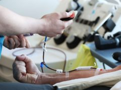 The rule change coincides with World Blood Donor Day on Monday (Jonathan Brady/PA)
