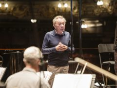 Andrew Lloyd Webber during a recording session with an 80-piece orchestra at London's Theatre Royal, Drury Lane (Alice Whitby/Universal Music Group/PA)