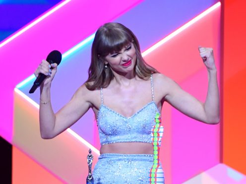 Taylor Swift paid tribute to her mother after winning her latest award (Ian West/PA)
