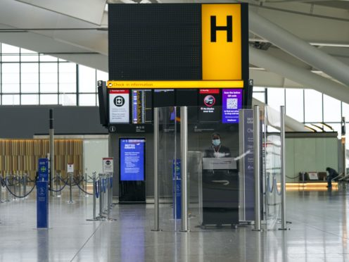 The AOA said there is a risk the coming months will be 'as bad or worse than summer 2020' in terms of passenger numbers (PA)