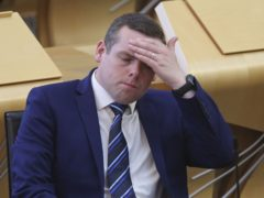 Scottish Conservative leader Douglas Ross tested negative for coronavirus after being in contact with the infected Scotland Office minister David Duguid (Fraser Bremner/Scottish Daily Mail/PA)