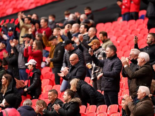 Supporters will need to be fully vaccinated against coronavirus or provide a negative lateral flow test to enter Wembley (Zac Goodwin /PA)