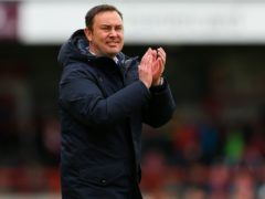Derek Adams has been named as Bradford's new boss (Barrington Coombs/PA)