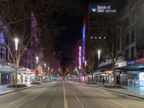 An empty Swanston Street in Melbourne (Asanka Brendon Ratnayake/AP)